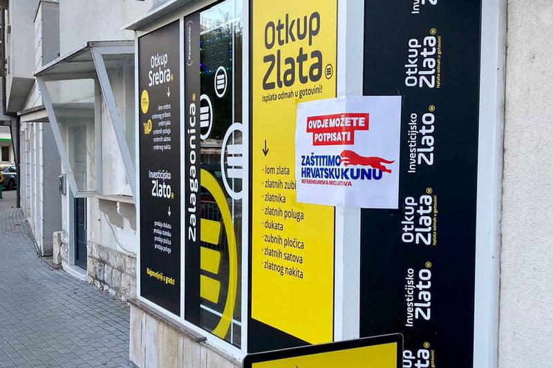 I u Metkoviću se potpisuje referendumska inicijativa 'Zaštitimo hrvatsku kunu'